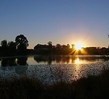 Sunrise Over Halpine Lake by stevealder