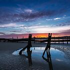 Bembridge Beach sunset by manateevoyager