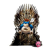 Snorlax and Jigglypuff take the Iron Throne Photographic Print