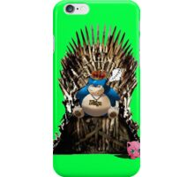 Snorlax and Jigglypuff take the Iron Throne iPhone Case/Skin