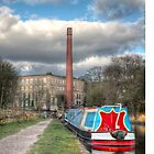 Canal and Narrow boat by Mark  Swindells