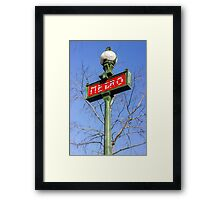 Paris Metro Sign Framed Print