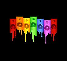 Colourful Speakers by Slave UK
