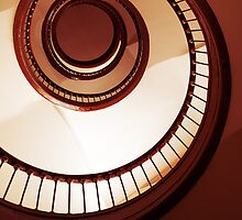 An old spiral staircase by JBlaminsky