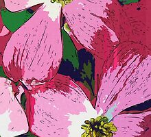 Pink Dogwood Collage by carlyncards
