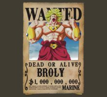 Wanted Poster Broly by BadrHoussni