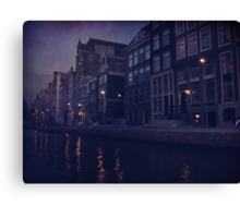 That Evening in Amsterdam Canvas Print