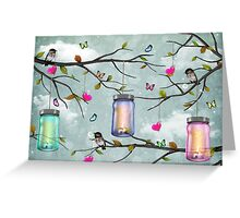 """Soul Purpose"" Mason Jar Party - Springtime Greeting Card"