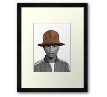 Pharrell Williams Hat Framed Print