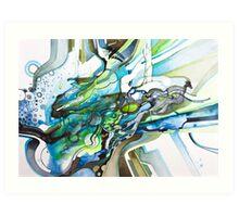 Eleven Percent  - Watercolor Painting Art Print