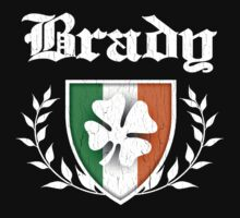 Brady Family Shamrock Crest (vintage distressed) by robotface