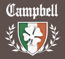 Campbell Family Shamrock Crest (vintage distressed) Kids Clothes
