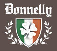 Donnelly Family Shamrock Crest (vintage distressed) Kids Clothes