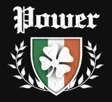 Power Family Shamrock Crest (vintage distressed) by robotface