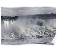 Niagara Falls Spectacular Ice Buildup - American Falls, New York State, USA Poster