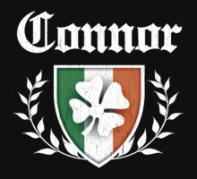 Connor Family Shamrock Crest (vintage distressed) by robotface