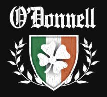 O'Donnell Family Shamrock Crest (vintage distressed) by robotface