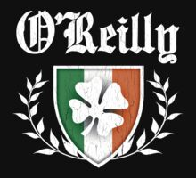 O'Reilly Family Shamrock Crest (vintage distressed) T-Shirt
