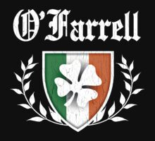 O'Farrell Family Shamrock Crest (vintage distressed) by robotface