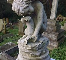 Victorian Cemetery Cherub by Angelsmoke
