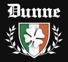 Dunne Family Shamrock Crest (vintage distressed) by robotface