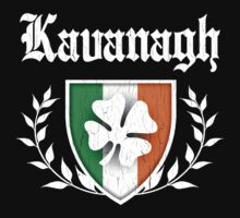 Kavanagh Family Shamrock Crest (vintage distressed) by robotface