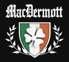 MacDermott Family Shamrock Crest (vintage distressed) Kids Clothes