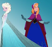 Frozen - Elsa and Anna by bheider