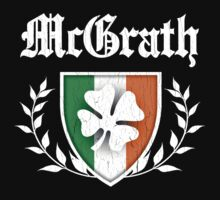 McGrath Family Shamrock Crest (vintage distressed) by robotface