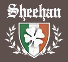 Sheehan Family Shamrock Crest (vintage distressed) Kids Clothes