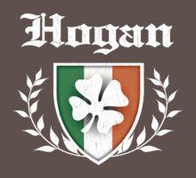 Hogan Family Shamrock Crest (vintage distressed) Kids Clothes
