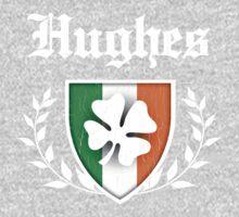 Hughes Family Shamrock Crest (vintage distressed) Kids Clothes