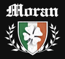 Moran Family Shamrock Crest (vintage distressed) by robotface