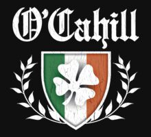 O'Cahill Family Shamrock Crest (vintage distressed) by robotface