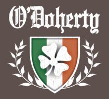 O'Doherty Family Shamrock Crest (vintage distressed) Kids Clothes