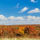Brown County Autumn Panorama by Kenneth Keifer