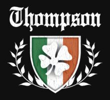 Thompson Family Shamrock Crest (vintage distressed) by robotface