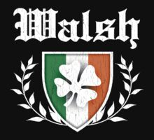 Walsh Family Shamrock Crest (vintage distressed) by robotface