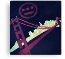 Stencil Golden Gate San Francisco Canvas Print