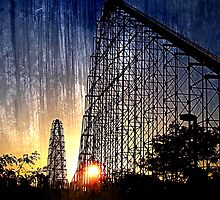 Mamba Roller Coaster at Sunset Grunge by THarmonArt