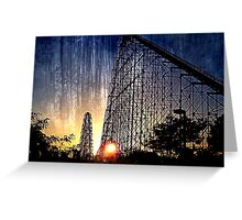 Mamba Roller Coaster at Sunset Grunge Greeting Card