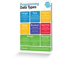 Programming Data Types (Coding Literacy) Greeting Card