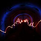 7.3.2014: Light Painting in Tunnel by Petri Volanen
