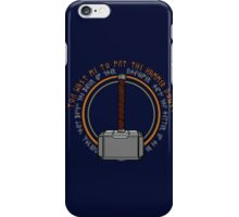 Hammer it home iPhone Case/Skin