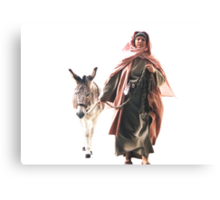 Hebrew woman with Donkey - The Jerusalem Entry Canvas Print
