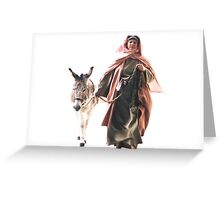 Hebrew woman with Donkey - The Jerusalem Entry Greeting Card