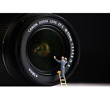 Keeping the Lenses clean Photographic Print