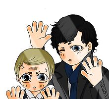 Sherlock & John trapped behind the glass (TOGETHER, YAY!) by wsa-nga
