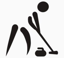 Curling player symbol by Designzz
