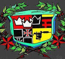 triple crown tattoo logo by bradley franzen